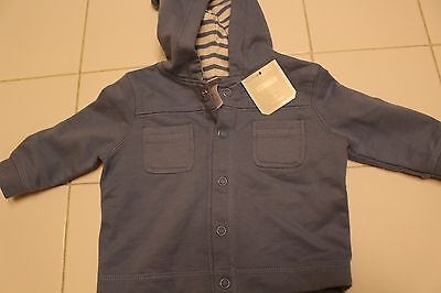 Old Navy Snap-Up Hooded Baby Jacket/Cardigan Size: 3-6 Months