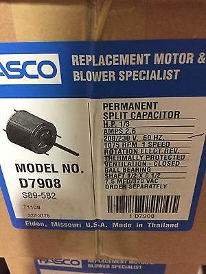 AC Air Conditioner Condenser Fan Motor 1/3 HP 1075 RPM 230 Volts for Fasco D7908