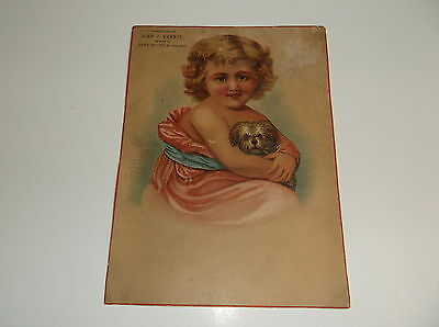 Victorian Trade Card, 5 x 7 inches, J.J. Kenney Shoe Store, Plainfield NJ.