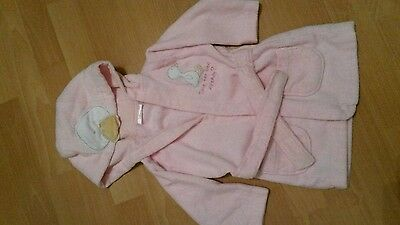 Baby girls pink dressing gown age 6-9 months