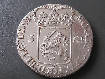 "Rare United Netherlands-Utrecht 1795 ""3 Gulden"""