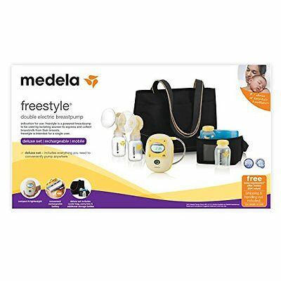 Medela Freestyle Double Electric Hands-Free Mobile Breastpump Deluxe Set