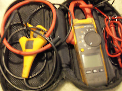 Fluke 376 1000A/1000V TRMS AC/DC Clamp Volt Ohm Amp Meter with iFlex probe USED