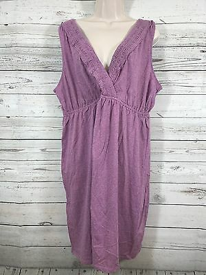 Motherhood Maternity Sleepwear Nightgown Sleeveless Light Lilac Size XL