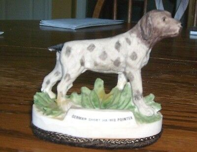 Resin dog figurine, German short-haired pointer, by Jasco