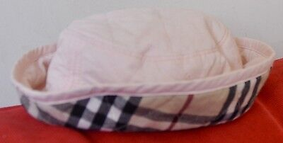 BURBERRY RRP: $135 Girl's Check Detail Bucket Pink Hat Size 48 / XS 6-12 Months