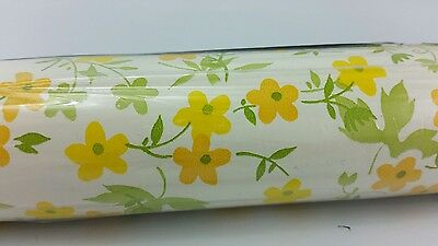 Vintage Floral Contact Paper 3 Yards 1970s-1980s Retro Flower Power