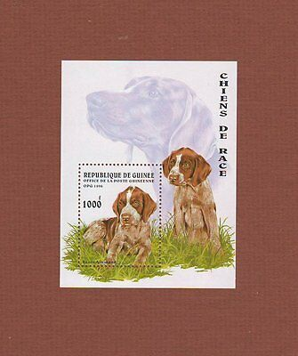 German Shorthaired Pointer dog souvenir sheet postage stamp MNH