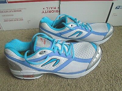 NEW-NEWTON Lady Isaac Running Shoes (White/Blue) -Women's US 10.5