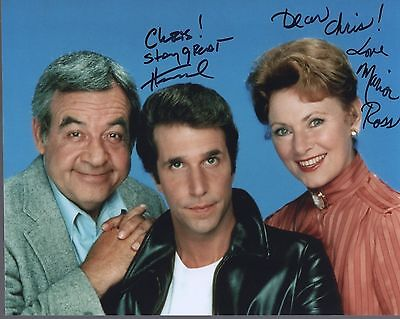 HENRY WINKLER+MARION ROSS AUTHENTIC SIGNED 8x10 PHOTO     HAPPY DAYS    TO CHRIS