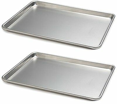 Commercial Half Size Sheet Pans Set of 2 - 13-Inch x 18-Inch, Aluminum US
