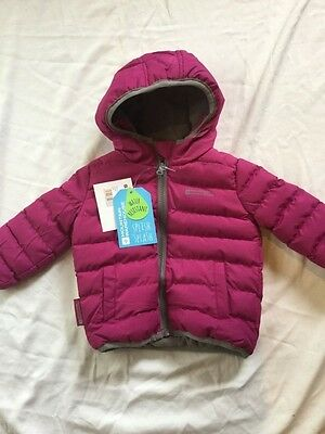 new infant padded jacket snow girls 6-12 months mountain warehouse