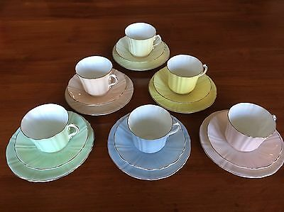 Sampson Smith Old Royal Bone China Trio Set Of Six