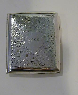 c.1918 Birmingham W.J. Myatt & Co. Engraved Sterling Cigarette Case  90.2 grams