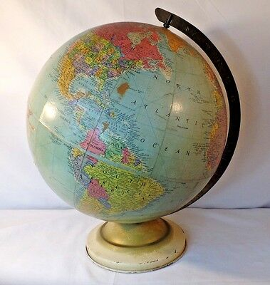 "Vintage 1960's Replogle 12""  World Globe"