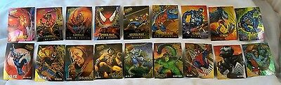 1995 Spider Man Fleer Ultra 9 Pc Golden Web +9 Pc Masterpieces Chase Sets Nm