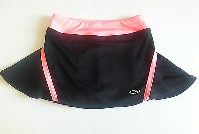 Champion Girls Tennis Skort Golf Skirt Size Medium 7 - 8 Neon Pink Black Dance