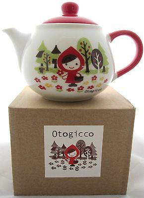Otogicco by Decole Little Red Riding Hood Ceramic Teapot for One with Strainer