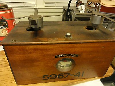 Antique SWIFT SCALE COMPANY, LONDON, Wood Box Scale, no pans