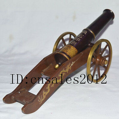 Republic China Late Qing Dynasty Folk Keep House Safe Copper Cannon Removeable