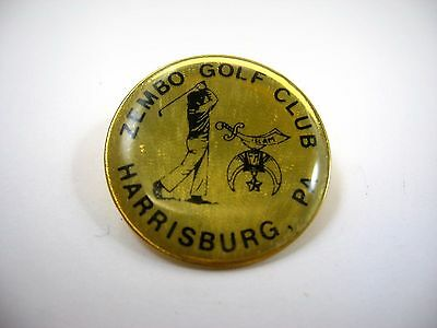 Vintage Collectible Pin: Zembo Golf Club Harrisburg PA
