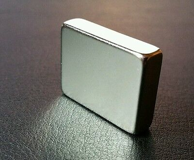 "1 Neodymium Block Magnet N52 Grade Super Strong Rare Earth 1"" X 3/4"" X 1/4"""
