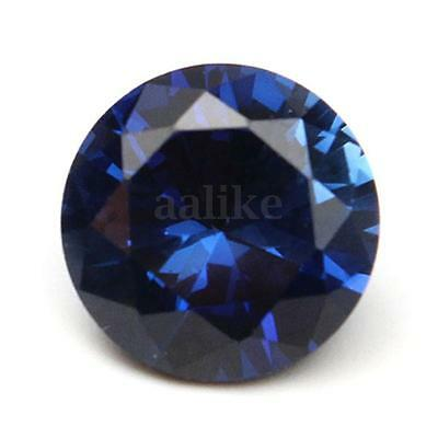 10MM Beautiful Round Shape Cut Blue Sapphire Lustrous Loose Gemstone Gem Stone
