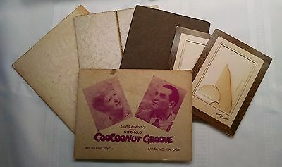 Lot of 6: Vintage cardboard folding picture frames, 1- CooCooNut Grove Nite Club
