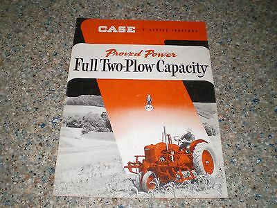 "Case ""S"" Series Tractors Full Two Plow 16 Pg Dealer Brochure Booklet Catalog"