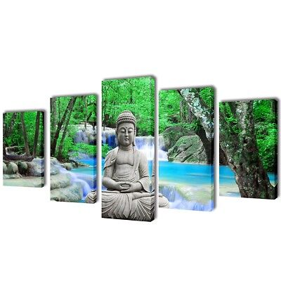 # Set of 5 Buddha Canvas Print Framed Wall Art Decor Painting 100x50cm Living Ro