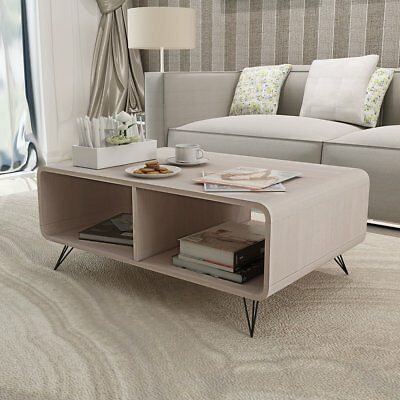 # Coffee Table TV Entertainment Unit Cabinet Stand MDF Steel 90cm Lowline Grey