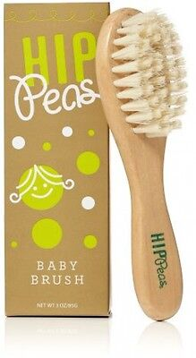 Hip Peas Wooden Baby Brush With Super Soft Bristles