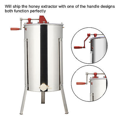 Pro 2/4 Frame Stainless Steel Manual Bee Honey Extractor Keeping Equipment