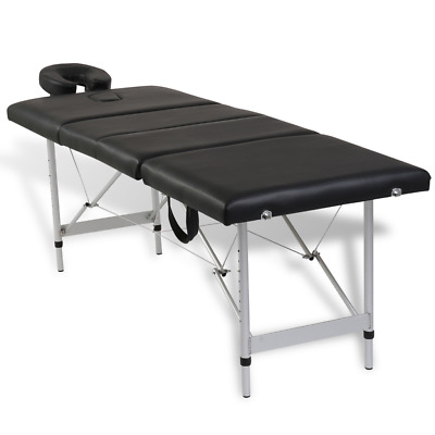 # Aluminium Portable Massage Table 4 Fold Beauty Therapy Bed Waxing 68cm Black