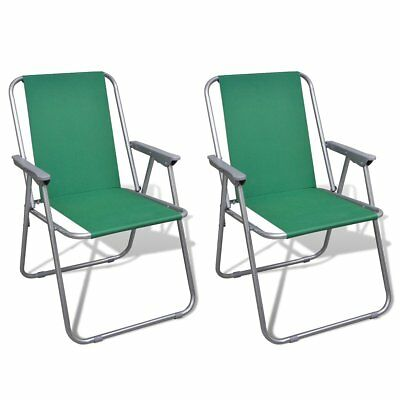 # New Outdoor 2pc Green Portable Fishing Chair Camping Seat Folding Hiking Stool