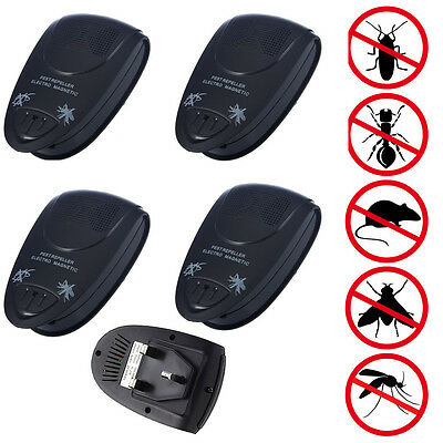 4 x Ultra Sonic Repellent Plug-In Rat/Mouse/Rodent/Mice Repeller Pest Deterrent