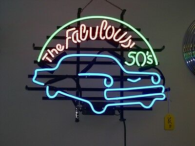 "New The Fabulous 50's Neon Sign 19""x15"" Ship From USA"