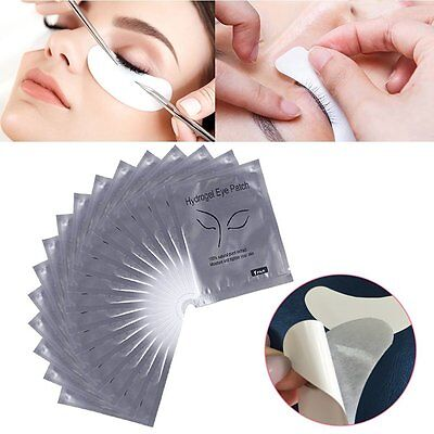 25/50/100Pairs Under Eye Curve Eyelash Extension Pads Gel Patch Lint Free Beauty