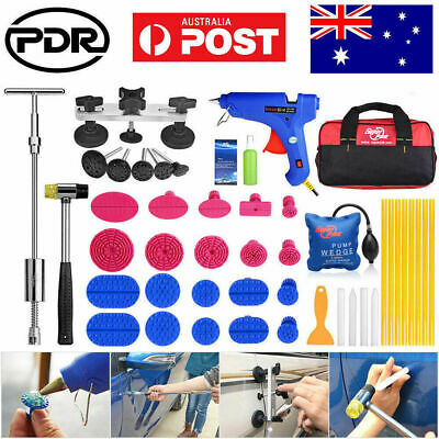 Paintless Dent Removal Repair Puller PDR Tools Slide Hammer T Bar Glue Gun Kits