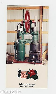1988 88 Badger Steam & Engine Club Wisconsin Holiday Greeting Card Photograph