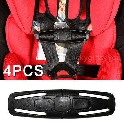 AU 4X Car Baby Safety Seat Strap Belt Harness Chest Clip Child Safe Lock Buckle