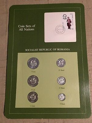 Six Coin Set Uncirculated 1966-1982 ROMANIA Coins Of All Nations