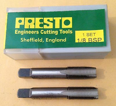 "Brand New Presto 1/8"" BSP Threading (2 Taps) Set"