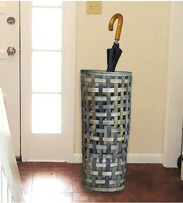 Umbrella Storage Wicked Basket Entryway Decorative Tall Wood Chip Hallway Home