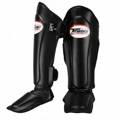 Twins Special Shin Guards Pads Muay Thai Boxing Mma Black Sgl10  Aus Stock