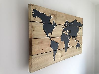 Wooden World Map Wall Art Home Decoration Picture Wall hanging