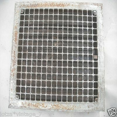 Vintage floor wall heat register Metal vent heater grate grille cover antique