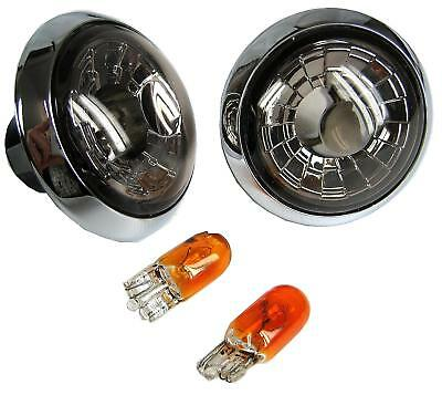 Smoked Crystal + Chrome Side Repeaters Range Rover L322 indicator tinted black