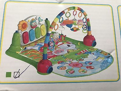 Baby Gym Play Mat Lay & Play 3 In 1 Fitness Music And Lights Fun Piano Green