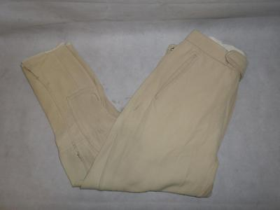 "*vintage Mens Riding Breeches- Beige- Adjustable Elasticated Waist- 32/34""*"